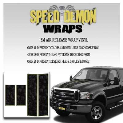 Ford F350-F250 Stripes Skulls Ghosted 1999-2006 3