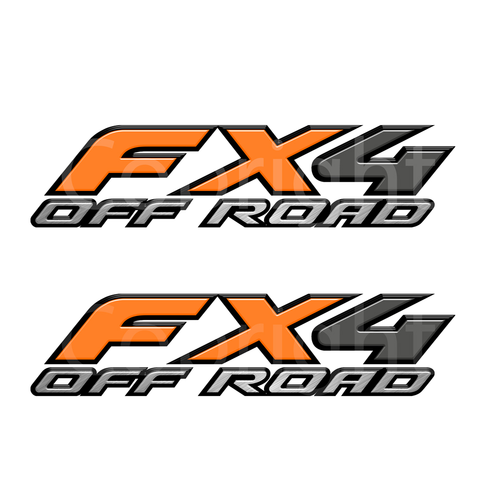Fx4 Decals Orange
