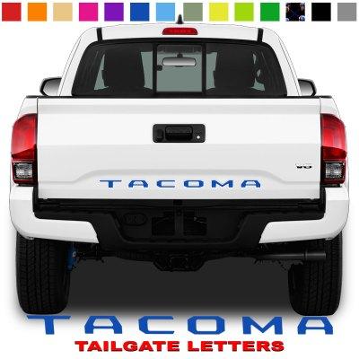 Toyota Tacoma Tailgate Lettering Blue