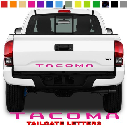 Toyota Tacoma Tailgate Lettering Pink