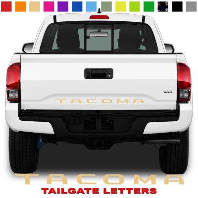 Toyota Tacoma Tailgate Lettering Tan