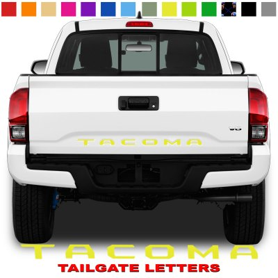 Toyota Tacoma Tailgate Lettering Yellow