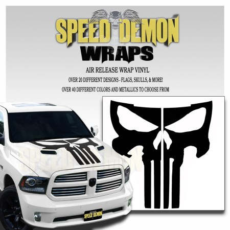 Dodge Ram Hood Punisher Decals 2009-2018 Matte