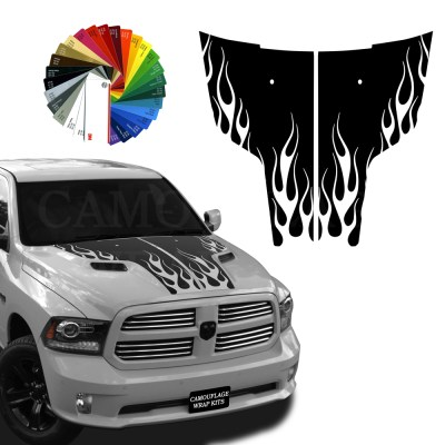 Dodge-Ram-Hood-Decals-Flames