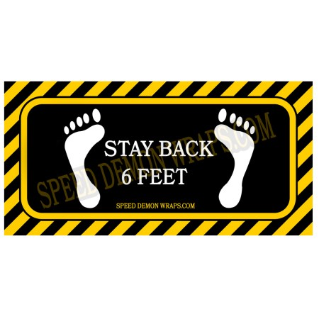 Covid 19 Stay Back 6 Feet Floor Decals