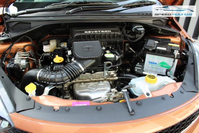Tata Tigor Engine bay with insulation