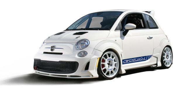 Fiat 500 Accessories by 500|SPEEDLAB - Abarth 7 Piece Styling Kit Installed White 01