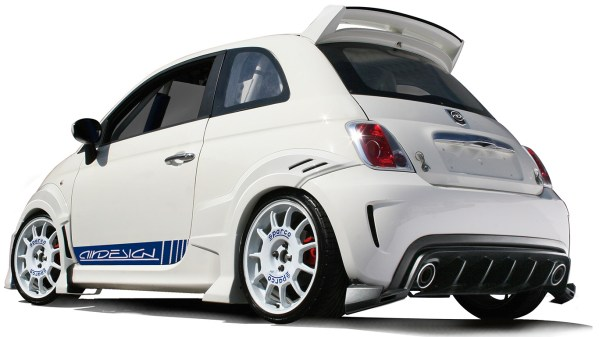 500|SPEEDLAB FIAT 500 Abarth 7 Piece Body Kit Installed White 02