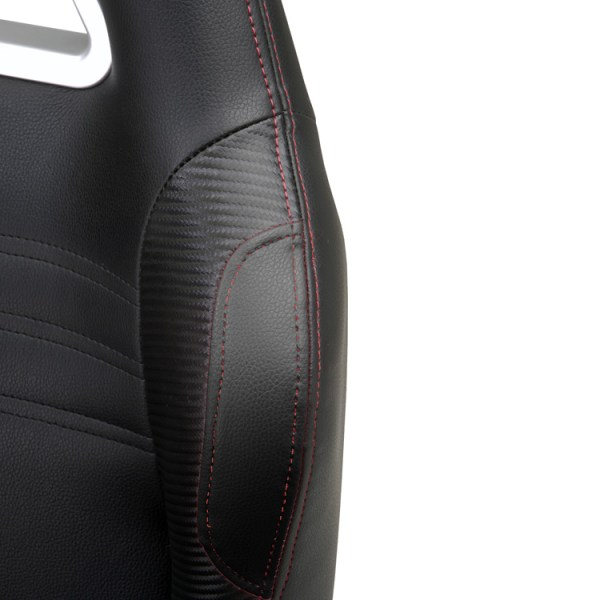 500|SPEEDLAB PitStop Crew Chief Bar Chair Black BC600B Detail