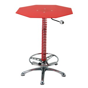 500|SPEEDLAB PitStop Furniture Crew Chief Bar Table Red BT7000R