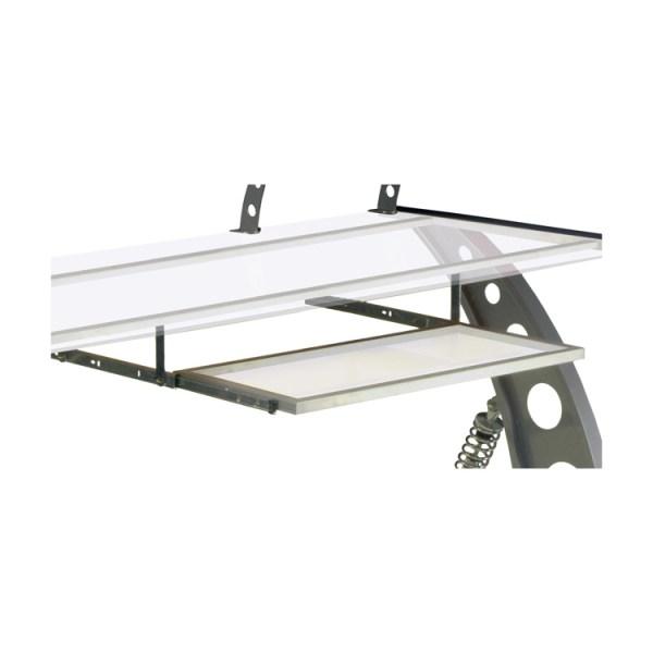 500|SPEEDLAB PitStop GT Spoiler Desk Keyboard Tray Clear KPT300C