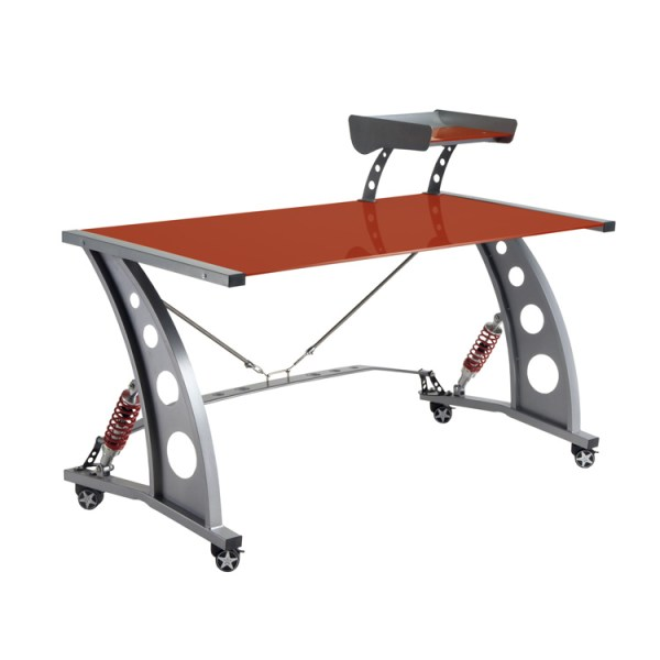 500|SPEEDLAB PitStop Furniture GT Spoiler Desk Red PFD2000R Front