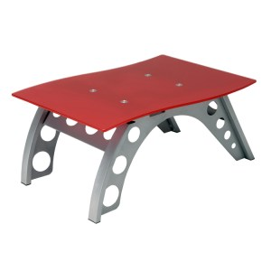 500|SPEEDLAB Pitstop Furniture Chicane Side Table Red ST9000R