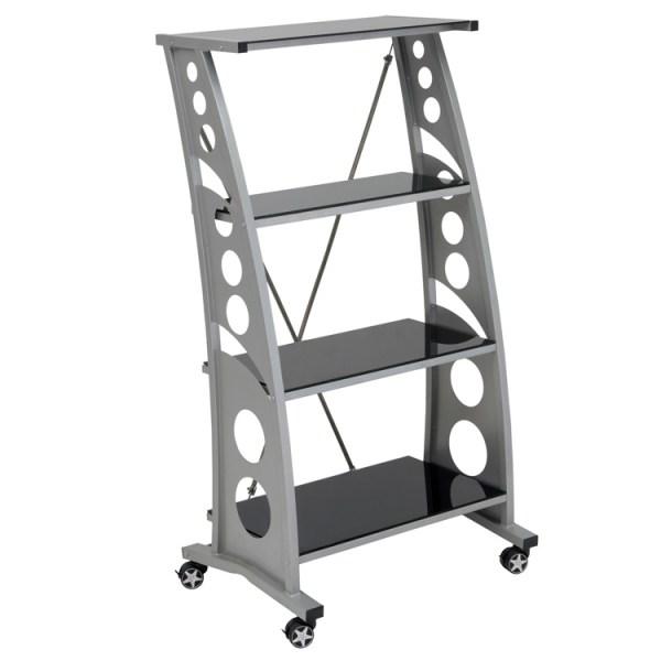 500|SPEEDLAB PitStop Chicane Bookshelf Black WS5000B