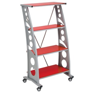 500|SPEEDLAB PitStop Furniture Chicane Bookshelf Red WS5000R
