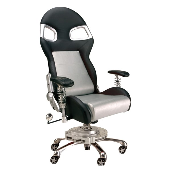 500|SPEEDLAB PitStop LXE Office Chair Silver FO8000S