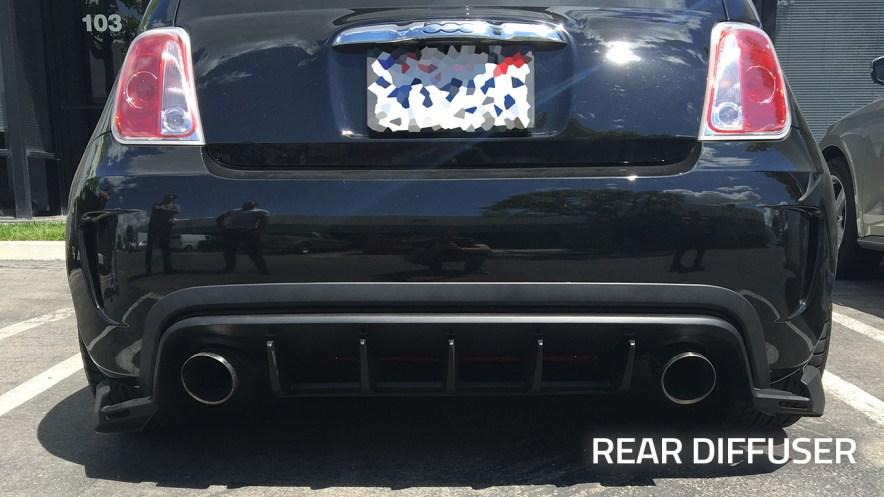 FIAT 500 Body Kits by 500|SPEEDLAB-Installation-Abarth-GS-Rear-Diffuser_01