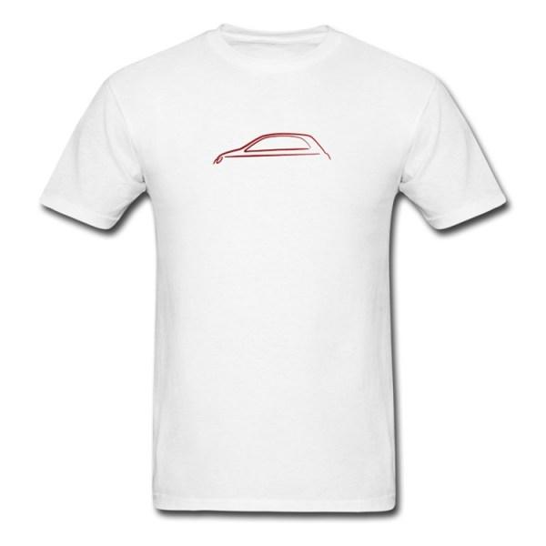 500|SPEEDLAB Fiat 500 Mens T-Shirt Italia Silhouette