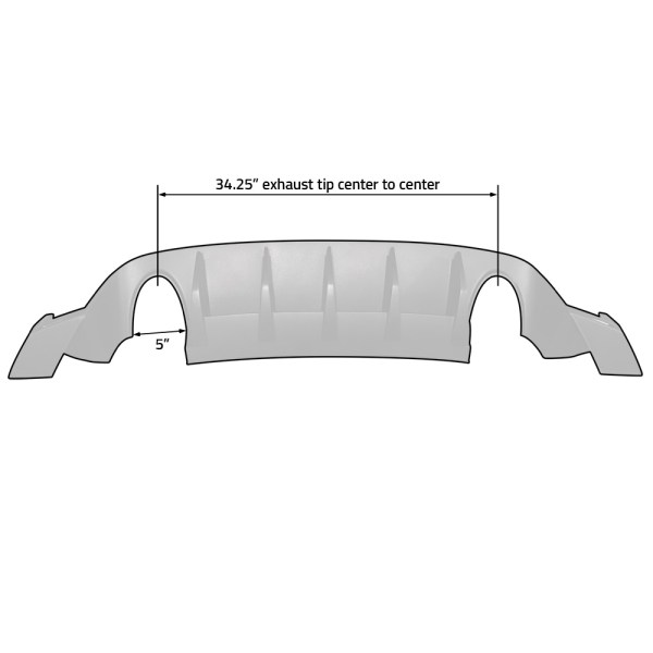 FIAT 500 Diffuser :: Fits US Abarth and Turbo :: 111703 :: Dimensions :: 500|SPEEDLAB