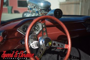 1955 Chevy Gasser with blown big block chevy - Steering Wheel