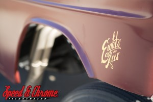 Eights and Aces logo on '55 Chevy fender