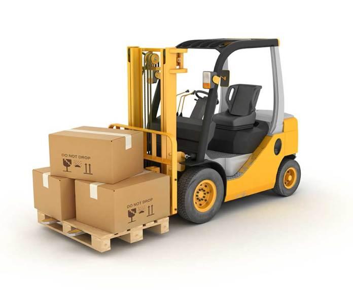 Counter balance forklift truck