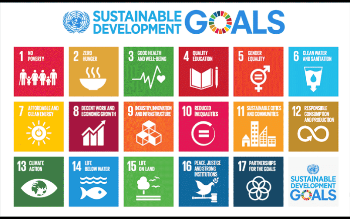 Graphic outline of the 17 UN Sustainable Development Goals