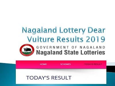 09 >> Nagaland Lottery Dear Vulture Results 20 09 2019 Winner List
