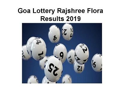 06 >> Goa Lottery Rajshree Flora Results 16 06 2019 Available Today