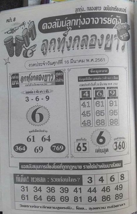Today] Thailand Lottery Results 01/09/2019-(Available)|Thai