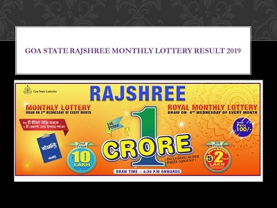 Goa State Rajshree Royal / Everest Monthly Lottery Results