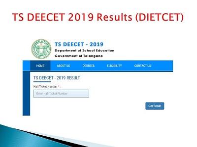 TS DEECET Results 2019 (Released) Telanagana DIET CET Exam