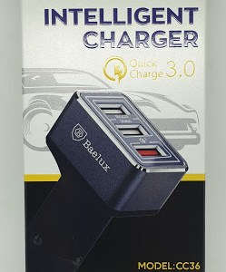 Baelux Kfz Schnelllader 3.0 inklusive USB Anschlüsse 7,2A