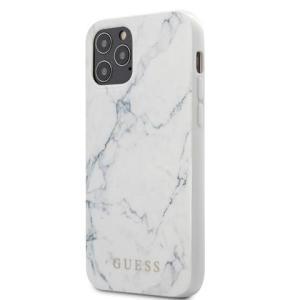 Guess Marble PC/TPU Cover für Apple iPhone 12 Pro Max/12 Pro/12/12 Mini Weiß
