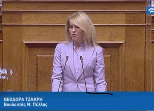 Θεοδώρα Τζάκρη: Ερώτηση στον Υπουργό Αγροτικής Ανάπτυξης για την επιτάχυνση των διαδικασιών αποζημίωσης των ζημιών που προκλήθηκαν στην Πέλλα από την κακοκαιρία ΘΑΛΕΙΑ