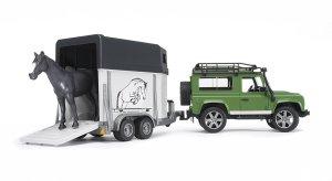 Bruder 2592 Terreinwagen Land Rover Defender + Paardentrailer