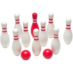 Bowlingspel Rood & Wit