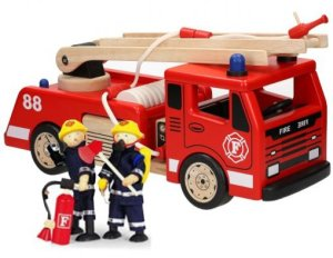 Brandweer Ladderwagen+ 2 brandweermannen - Pintoy