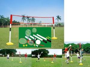 Sportset Badminton - Tennis - Volleybal 3-in-1