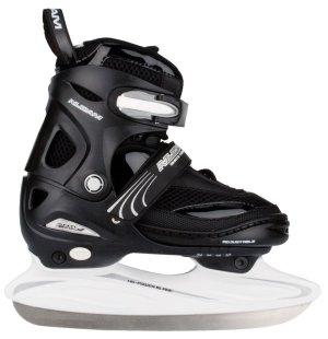 Verstelbare ijshockeyschaats zwart