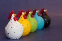 Colourful Hens