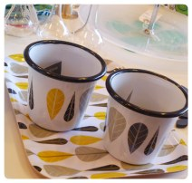 Yellow and Black Leaves Tumblers