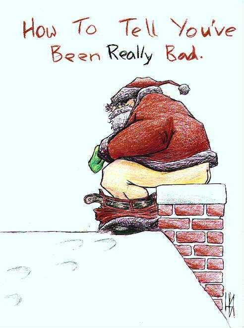 santa shitting Wesołych Świąt!