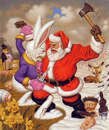santa vs easter bunny Korekta, panika, krach, histeria rynkowa?