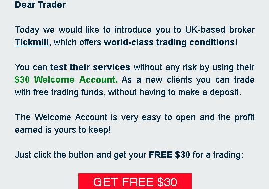 dear trader Tickmill i depozyt na start, czyli broker chce naszych strat
