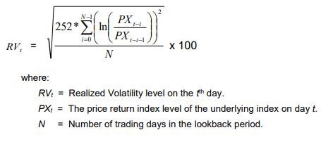 realized volaility Zmienność zrealizowana   kalkulacja