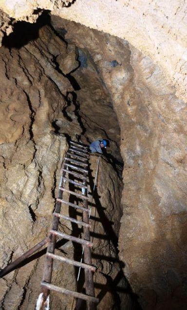 Spájaný rebrík z troch častí