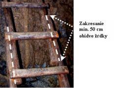 Obr. 7. Detail spojenia dvoch rebríkov klincami. Foto: M. Jagerčík