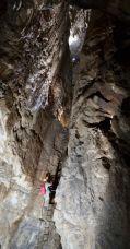 Jaskyňa Slnečného Lúča vstupné rebríky