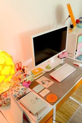 Mitt skrivbord.